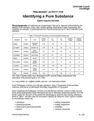 05 Identifying Pure Substances