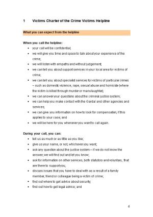 1 Victims Charter of the Crime Victims Helpline