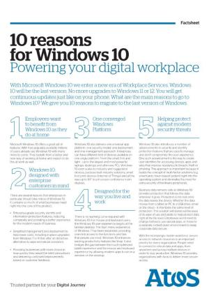 10 Reasons for Windows 10