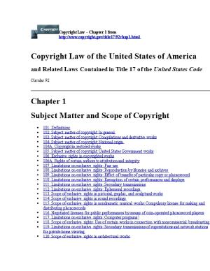 102. Subject Matter of Copyright: in General