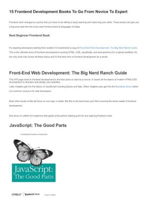 15 Frontend Development Books to Go from Novice to Expert