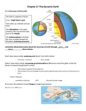 17.1 Structure of the Earth