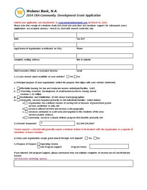 2014 CRA-Community Development Grant Application