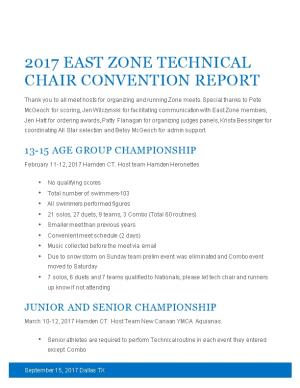 2017 East Zone Technical Chair Convention Report