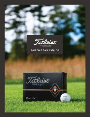 2019 Golf Ball Catalog