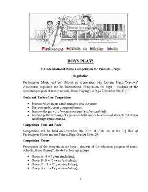 2St International Piano Competition for Pianists Boys