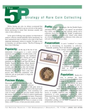5P Strategy of Rare Coin Collecting