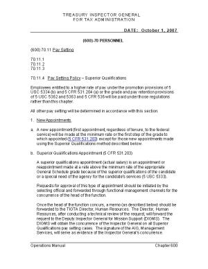 70.11.4 Pay Setting Policy Superior Qualifications