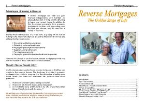 8 Reverse Mortgages Reverse Mortgages 1