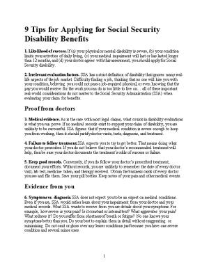 9 Tips for Applying for Social Security Disability Benefits