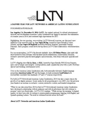 A Banner Year for Latv Networks & American Latino Syndication!