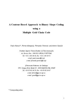 A Contour-Based Approach to Binary Shape Coding