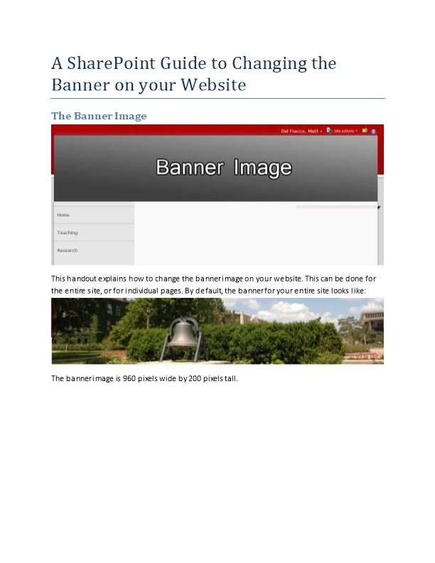 A Sharepoint Guide to Changing the Banner on Your Website