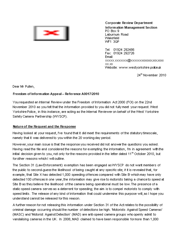 A0005 - Outcome of Appeal Letter (ISPG)