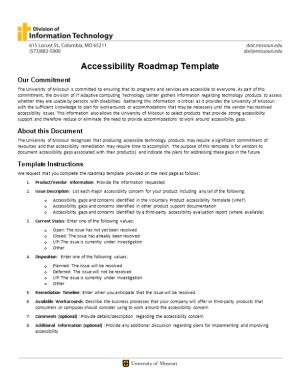 Accessibility Roadmap Template