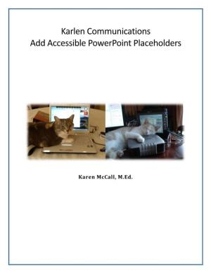 Add Accessible Powerpoint Placeholders