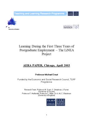 AERA PAPER, Chicago, April 2003