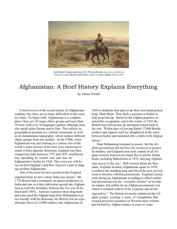 Afghanistan: a Brief History Explains Everything