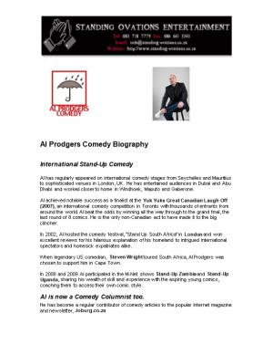 Al Prodgers Comedy Biography (Abridged)