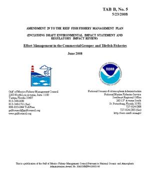 Amendment 29 to the Reef Fish Fishery Management Plan