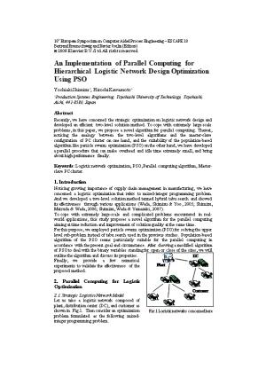 An Implementation of Parallel Computing for Hierarchical Logistic Network Design Optimization