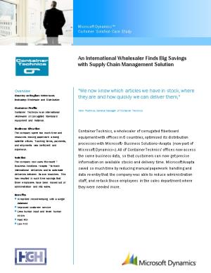 An International Wholesaler Finds Big Savings with Supply Chain Management Solution