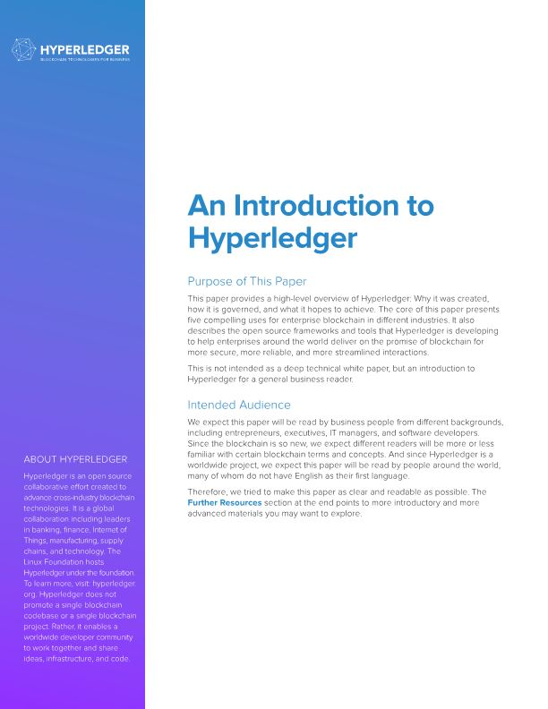 An Introduction to Hyperledger