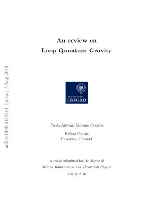 An Review on Loop Quantum Gravity