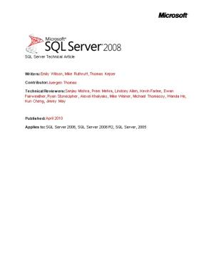 Analyzing I/O Characteristics and Sizing Storage Systems for SQL Server Database Applications