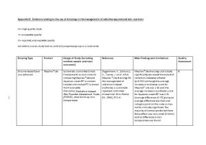 Appendix 9: Evidence Relating to the Use of Dressings in the Management of Radiotherapy