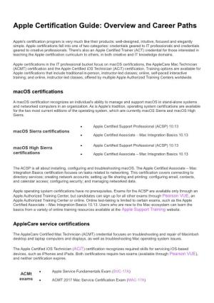 Apple Certification Guide Overview and Career Paths