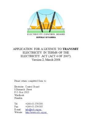 Application for a License to Distribute Electricity