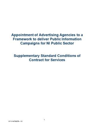 Appointment of Advertising Agencies to a Framework to Deliver Public Information Campaigns