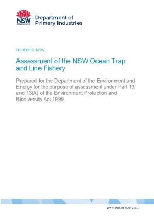 Assessment of the NSW Ocean Trap and Line Fishery