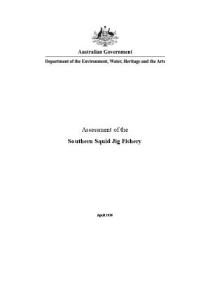 Assessment of the Southern Squid Jig Fishery