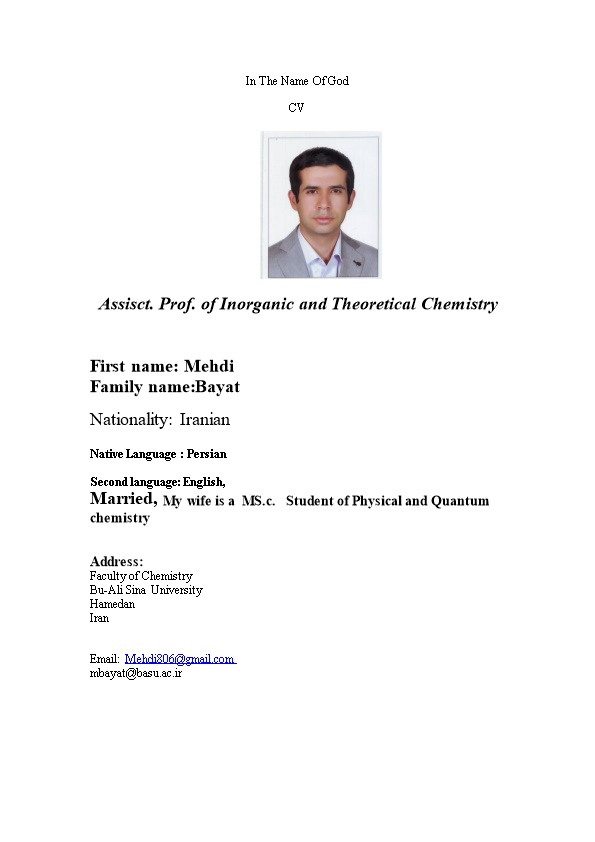 Assisct. Prof. of Inorganic and Theoretical Chemistry