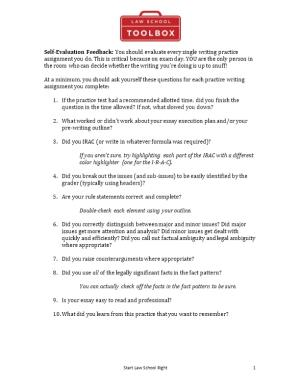 At a Minimum, You Should Ask Yourself These Questions for Each Practice Writing Assignment