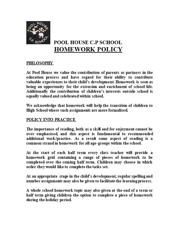 At Pool House We Value the Contribution of Parents As Partners in the Education Process