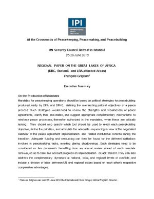 At the Crossroads of Peacekeeping, Peacemaking, and Peacebuilding