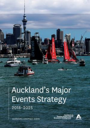 Auckland'S Major Events Strategy 2018–2025