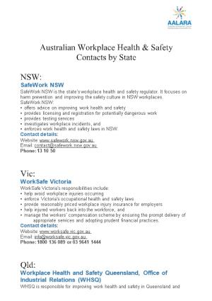 Australian Workplace Health & Safety