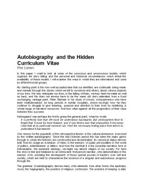 Autobiography and the Hidden
