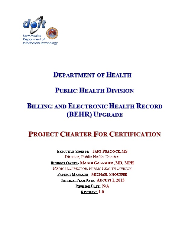 Billing and Electronic Health Record (BEHR) Upgrade