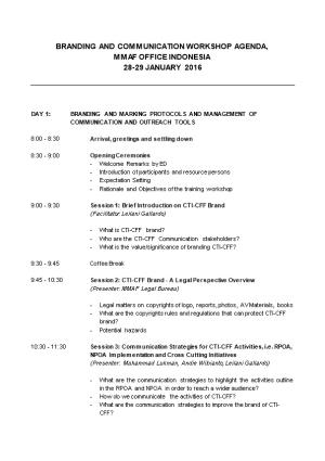 Branding and Communication Workshop Agenda