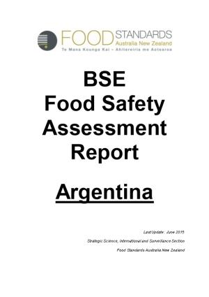BSE Food Safety Assessment Report - Argentina