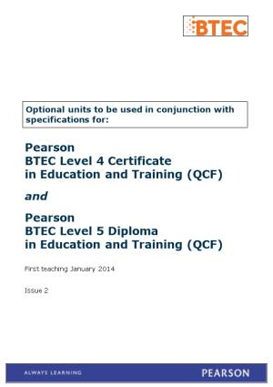 BTEC Specialist Qualifications Mixed Assessment