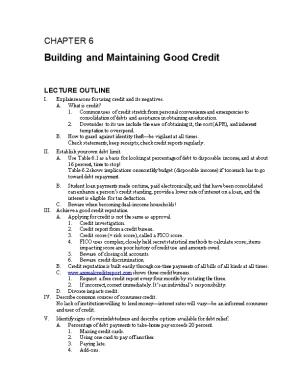 Building and Maintaining Good Credit
