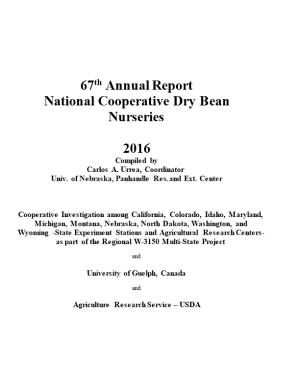 Call for 2004 Cooperative Dry Bean Nursery