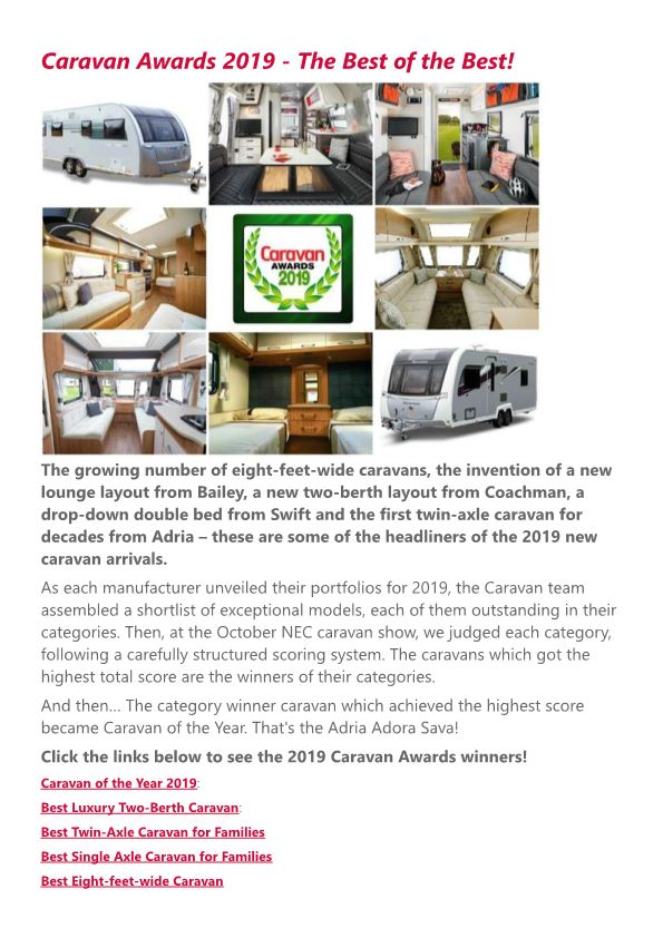 Caravan Awards 2019 - the Best of the Best!
