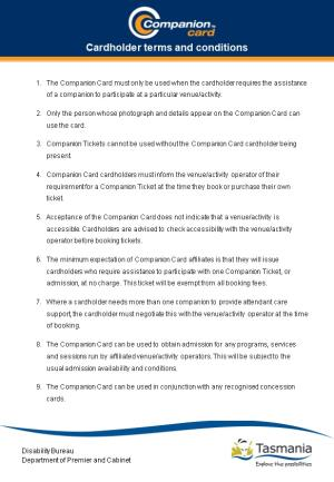 Cardholder Terms and Conditions